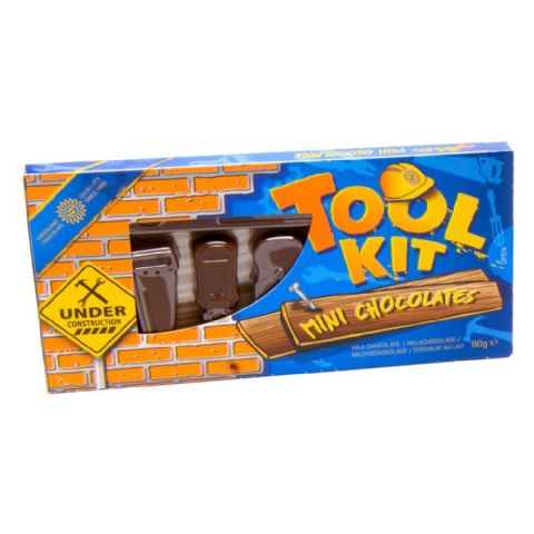 Tool Kit Novelty Mini Milk Chocolates Steenland 90g